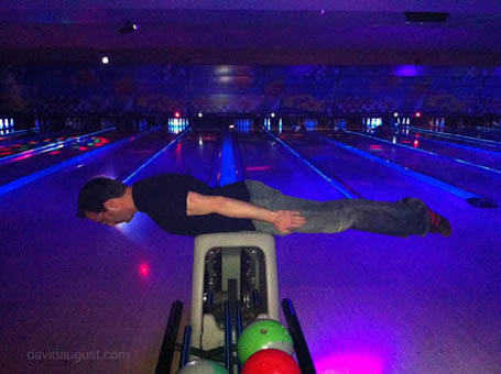 Planking at the Bowling Alley